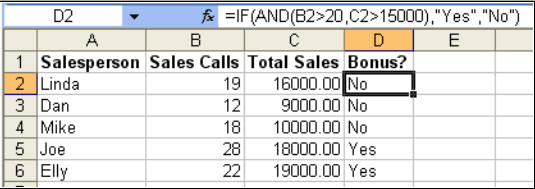 IF Statements In Formulas In Microsoft Excel