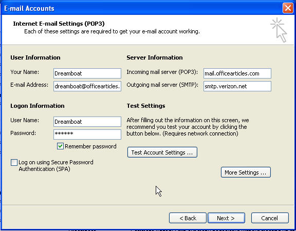 Setting Up a POP3 Email Account in Microsoft Outlook
