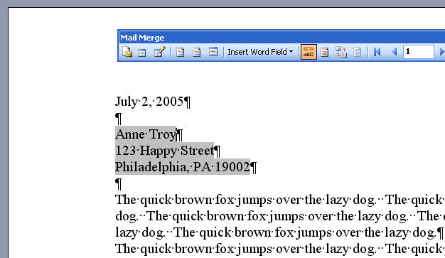 Mail Merge Letters In Microsoft Word Office Articles