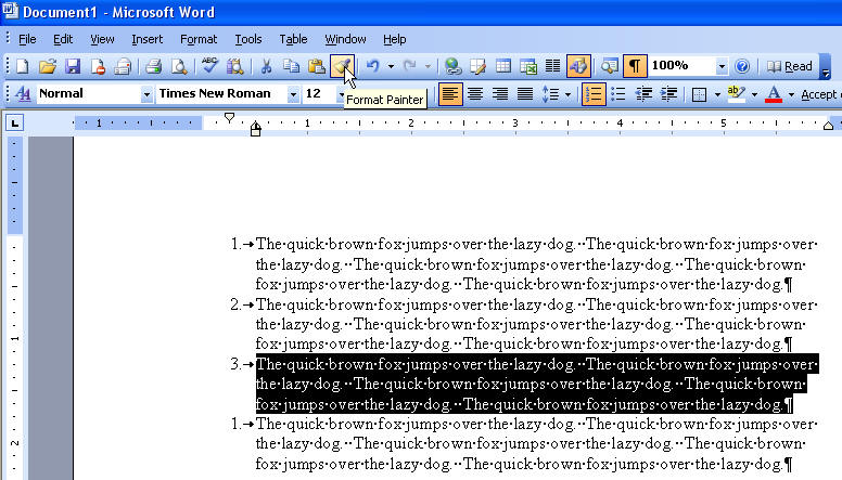 Having Difficulty With Bullets And Numbering In Microsoft Word