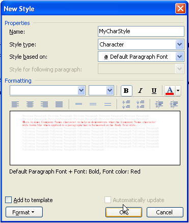 microsoft word style template