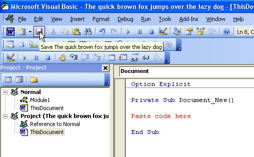 What to Do with Macro Code in Microsoft Word - Office Articles